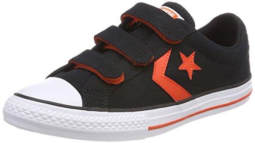 Converse Star Player Ev 3v OX, Zapatillas Unisex Niños Mehrfarbig (Black/Gym Red/White)