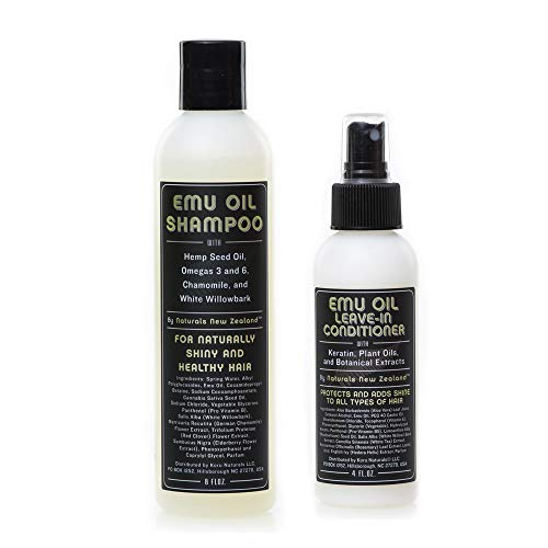 Emu Oil Shampoo and Leave-in Conditioner Set Sulfate Free with Special Keratin