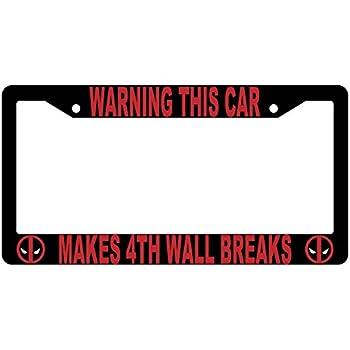 Black Deadpool Is My Spirit Animal License Plate Frame Auto Accessory
