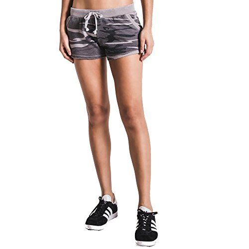 Z SUPPLY Women's The Camo Short, Camo Black, Large