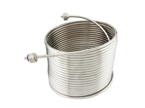 5/16'' x 50' Jockey Box Stainless Steel Coil - Right Hand