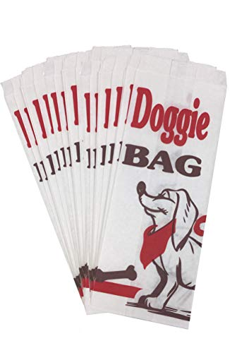 Dog Party Paper Sacks - Doggie Treat Bags - Black Red White - 30 Pack