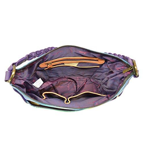 Anuschka handbemalte Ledertaschen für Damen, handgemachtes Geschenk für Frauen, Umhängetasche, Schultertasche ( Timeless Tuscany 7220 TTY)
