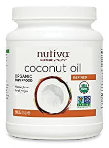 Nutiva Organic Coconut Oil, Refined, 54 Ounce