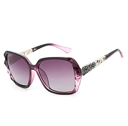 Coreana Gafas Light para Anti Elegante PC Sol 99 Polarizadas Perspective Lady De Purple Purple UV400 UV QQBL Versión End Visible High Resina De 6gTTwx