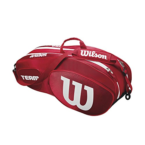 Wilson Team III 6 Pack Tennis Bag, Red/White