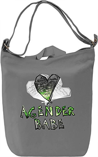 Agender Babe Borsa Giornaliera Canvas Canvas Day Bag| 100% Premium Cotton Canvas| DTG Printing|