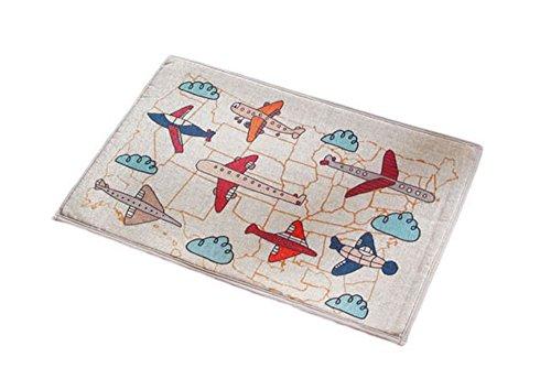 PANDA SUPERSTORE Linen Cushion Mat Household Bathroom Door Mat Water Household-Plane