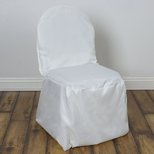 vory Polyester Banquet Chair Covers Slipcovers for Wedding Party Reception Decorations (Ivory Wedding Decoration Centerpiece)