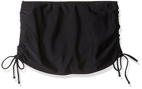 Amoena Women's Lima Swim Skirt with Attaching Bottom, Black/White, 10