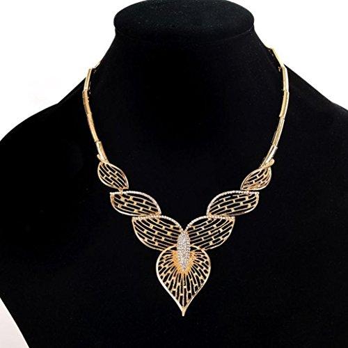 Botrong Fashion Women Full Diamond Crystal Rhinestone Choker Necklace Wedding Jewelry (Full Rhinestones Snap)