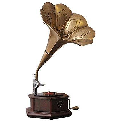 Retro Tocadiscos Decoracion/hierro viejo gramófono modelo/Soft ...