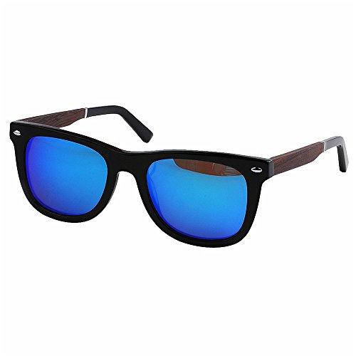 Hombres Conducción Gafas de TAC Peggy Libre Sol Marco Gu Azul Aire Lente Fibra de Protección Gafas Gris polarizadas UV Acetato Transparente al Sol Pesca Cuadrado Playa y de Madera Forma de UPXxq1SP
