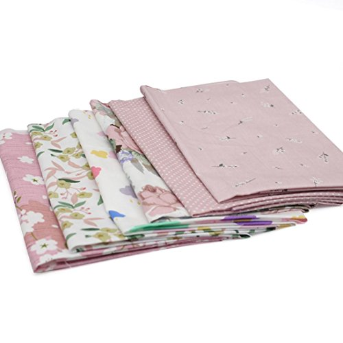 cm DIY Cotton Patchwork Quilt Series Fabric Floral Charms Quarters Bundle Sewing Accessories (C) (Artcraft Scrapbooking)