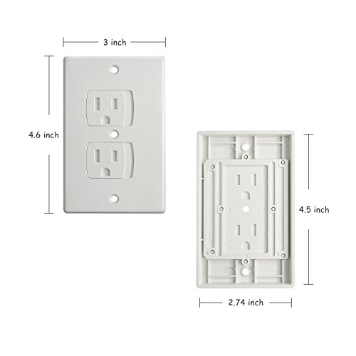 Buenavo Universal Electrical Outlet Covers Baby Safety Self Closing