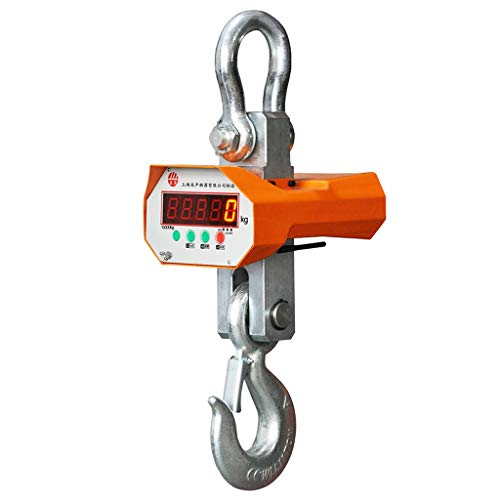 MXBAOHENG 5000Kg (5 Ton) Digital Hanging Electronic Crane Scales Industrial Wireless Crane Scale ()