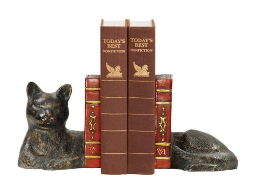 Sterling Home Pair of Cat Napping Bookends, 5-1/2-Inch Tall