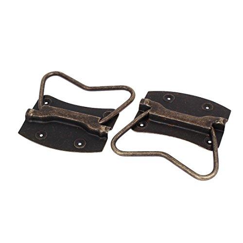 (uxcell Wooden Box Chest 103mmx102mmx8mm Metal Puller Handles Bronze Tone 2pcs)