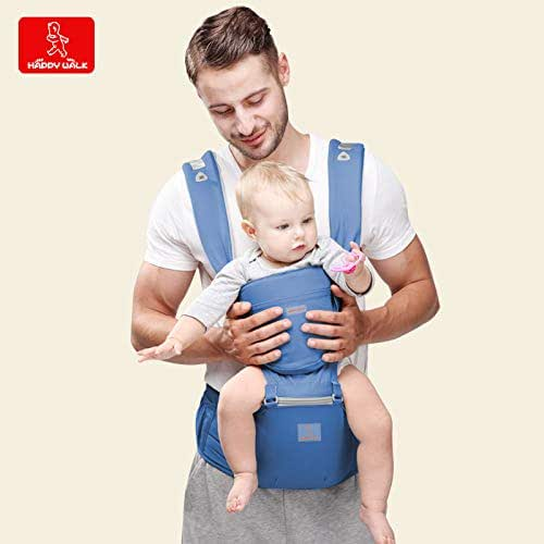 Baby Ergonomic Carrier with Hip Seat for Toddler & Infants - Organic Cotton Backpack Sling - 6 Comfortable & Safe Positions for Infant & Toddlers - Perfect for Nursing, Hiking & Travel