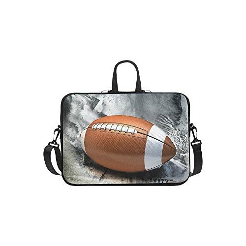 InterestPrint Sport Football Laptop Sleeve Case Bag, American Football Shoulder Strap Laptop Sleeve Notebook Computer Bag 13.3 Inch for Macbook Pro Air HP Dell Laptop Sleeve Football