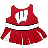Wisconsin Badgers Dog Cheer Leading Dress & Leash Set Size SM