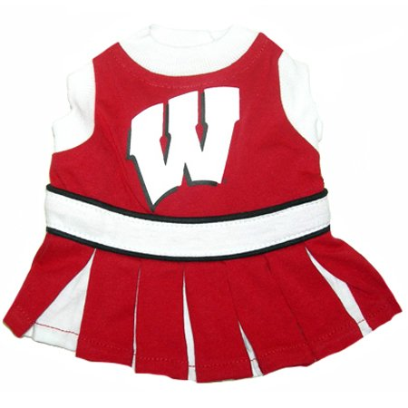 Wisconsin Badgers Dog Cheer Leading Dress & Leash Set SizeXS