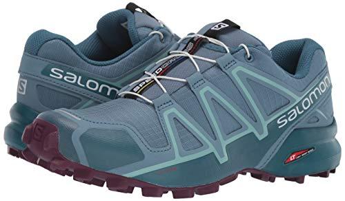 Salomon Women's Speedcross 4 W Trail Running Shoe, Bluestone/Mallard Blue/Dark Purple, 5.5 Standard US Width US by Salomon (Image #6)