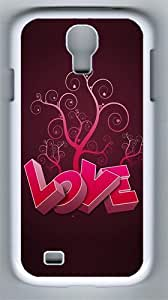 3D Heart And Tree PC Hard Case Cover For Samsung Galaxy S4 SIV I9500 Case and Cover White