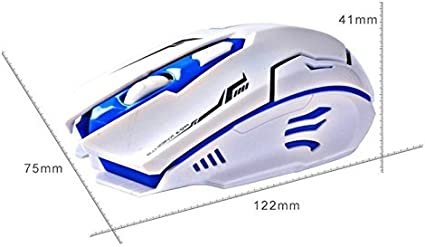 2.4Ghz USB Wireless Keyboard Mouse Combo WiFi USB Mute High Speed White+Blue