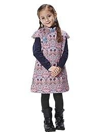 Handmade Girls Cotton Dress Overcoat Chinese Cheongsam Qipao Kids Clothing #211