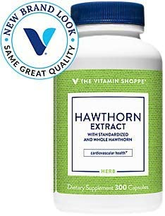 The Vitamin Shoppe Hawthorn Extract, with Standardized and Whole Hawthorn, Powerful Antioxidant That Supports Cardiovascular Health, Supports Cellular Health 300 Capsules