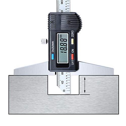 (LIDAUTO Electronic Digital Depth Gauge Standard Vernier Caliper Micrometer Stainless Steel,300MM)