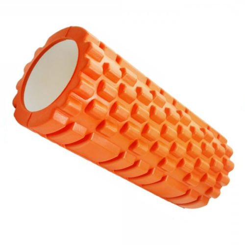 Home Treats Deep Tissue Foam Roller Muscle Massager, Trigger Point Therapy, Ultra Lightweight Hollow Core, With Free eBook (orange)