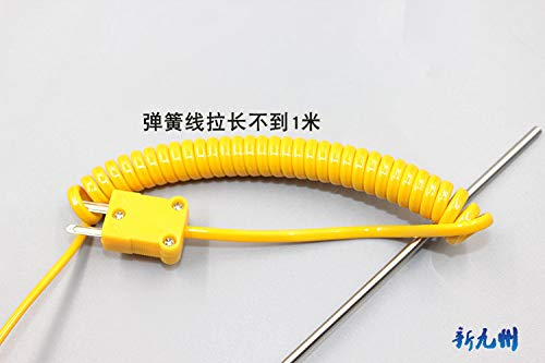 BLS 190x3mm K-Type Thermocouple Stainless Steel Probe Temperature Controller Wire Sensors