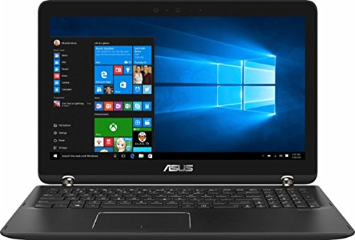 "Price comparison product image ASUS Newest Q524UQ 2-in-1 Convertible 15.6"" Full HD Touchscreen Backlit Keyboard Flagship Premium Laptop PC, Intel Core i7-7500U Dual-Core, NVIDIA GeForce 940MX, 12GB DDR4, 2TB HDD, Windows 10, Black"