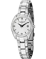 Stuhrling Original Womens 414L.01 Classic Ascot Swarovski Crystal-Accented Stainless Steel Watch