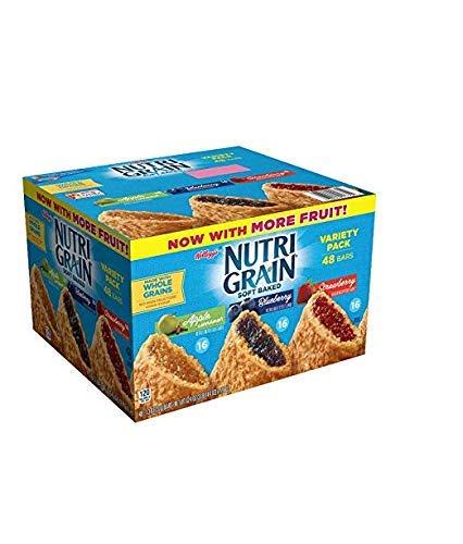 Kellogg's Nutri-Grain Variety Pack (1.3 oz, bar, 48 ct.) vevo (Premium pack) by Europe Standard