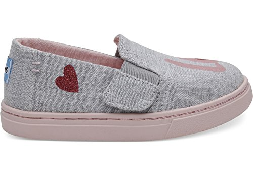 - TOMS Tiny Luca Denim Chambray Slip-On, Size: 10 M US Toddler, Color Drizzle Grey Love