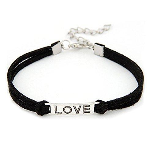 Weave Byzantine Bracelet - Jieson Women Men Bracelet Love Handmade Rope Charm Jewelry Weave Bracelet Jewelry for Women,Girl Gift (Black)