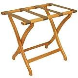 Wooden Mallet Designer Curve Leg Luggage Rack,Tan