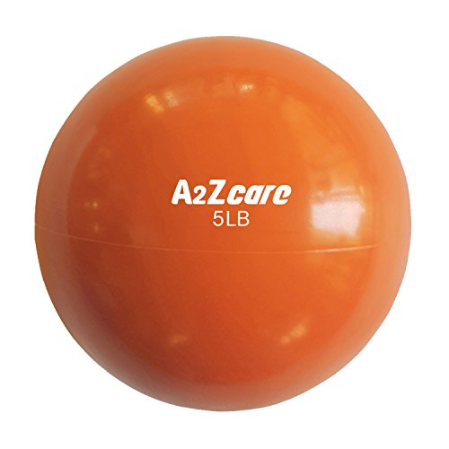 A2ZCare Toning Ball - Soft Weighted Mini Ball / Medicine Ball (Orange (5lbs)) (3 Inch Orange Balls)