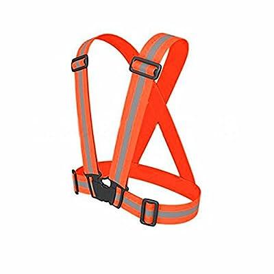 RICHELE Kids Reflective Safety Vest, Lightweight Adjustable High Visibility Reflective Belt Vest for Child, Night Running Walking Jogging Cycling Riding
