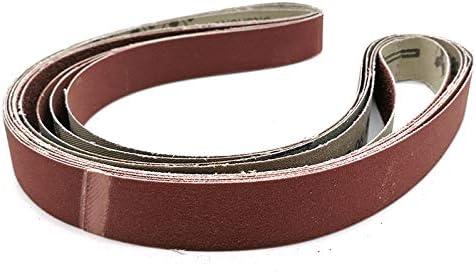 5pcs 1/'/'x42/'/' Sanding Belts Sander Aluminum Oxide 80 150 240 400 600 800 Grit