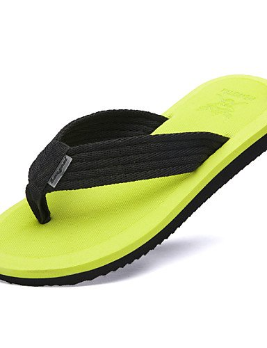 talla negro uk9 Casual cn44 hombre zapatos us10 marrón cn44 eu43 chanclas NTX verde de nailon hombres uk9 us10 única de brown green amarillo eu43 4A0xnpTqw