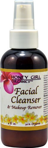 Honey Girl Organics Facial Cleanser and Makeup Remover -- 4 fl oz - 3PC