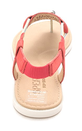 Offener Leger Sandalen Leder Zeh Sperry Of Sharon Flache Rose Frauen vw1nZ