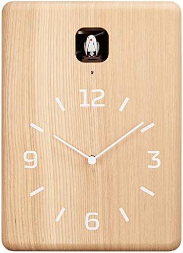 Lemnos Cucu Cuckoo Wall Clock with Light Sensor Natural