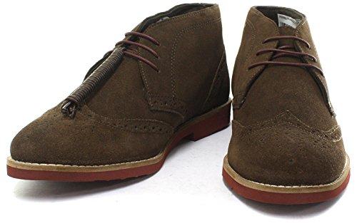 Bureaucratie Foxhill Brown Suede Heren Desert Brogue Boots, Maat 10