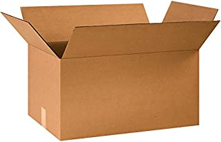 "product image for Partners Brand P24141240PK Corrugated Boxes, 24"" L x 14"" W x 12"" H, Kraft (Pack of 40)"