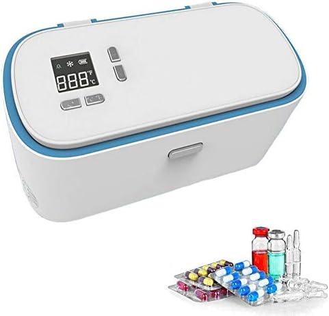 JL Wiederaufladbar Insulin-Kühlbox LCD Bildschirm Auto Insulin-Kühler Medizin Hält Diabetesmedikation Kühl Und Isoliert für Zuhause, Auto, Reisen, Camping